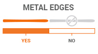 Metal Edges: Yes - strong edge hold on downhill terrain