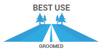 Best Use: Groomed - most popular, narrow for mobility and speed