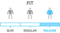 Fit: Slightly larger than a regular fit, more room for layering