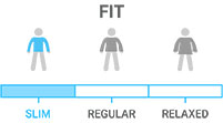 Fit: Active cut that sits close to body, minimal room for layering
