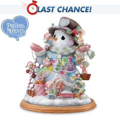 Precious Moments Making The Season Bright Snowman Figurine