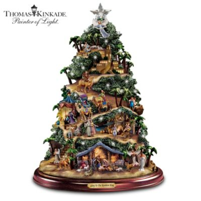 Thomas Kinkade Glory To The Newborn King Tree