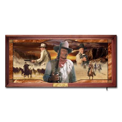 John Wayne: An American Legend Stained Glass Wall Decor Art