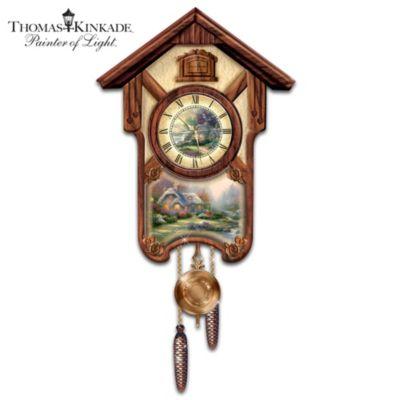 Thomas Kinkade Timeless Memories Cuckoo Clock