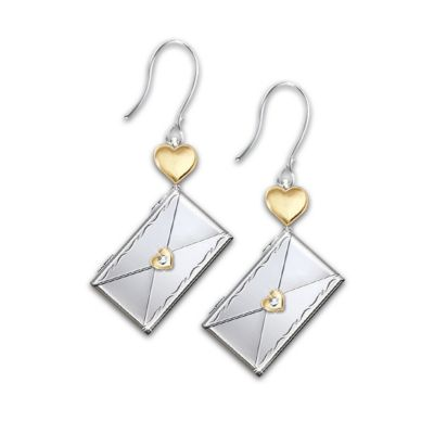 Dear Daughter Letter Of Love Pierced Diamond Earrings