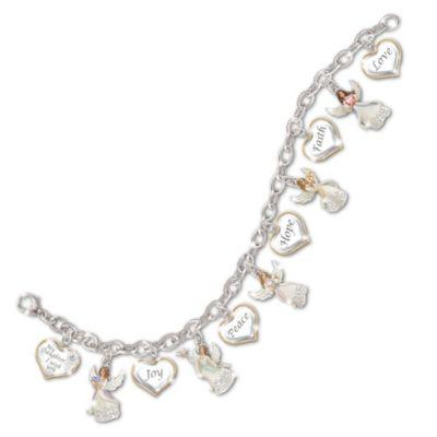 My Daughter, I Wish You Angel Charm Bracelet