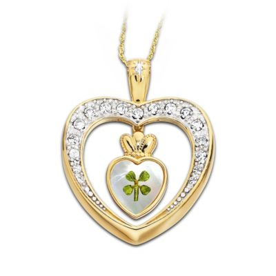 Diamond Blessings Four-Leaf Clover Pendant Necklace