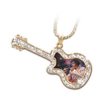 Legendary Elvis Guitar Pendant Necklace