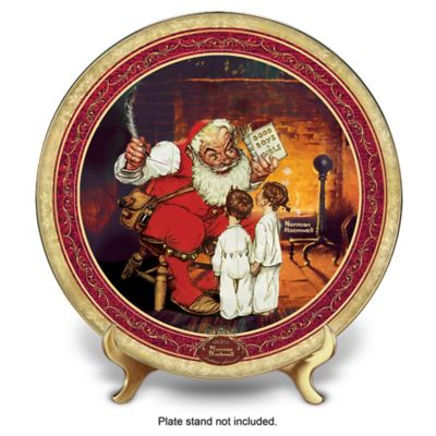Norman Rockwell Naughty Or Nice Collector Plate