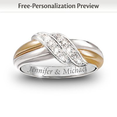Diamond Embrace Personalized Ring
