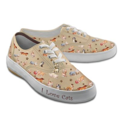 Kitten Capers Women's Canvas Sneakers