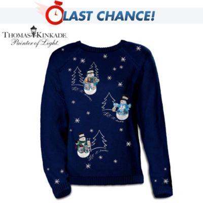 Thomas Kinkade's Wonders Of Winter Sweater
