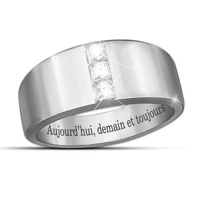 Aujourd'hui, demain et toujours Diamond Men's Ring