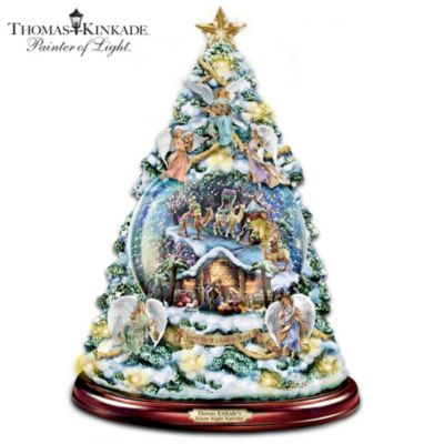 Thomas Kinkade Silent Night Nativity Tabletop Christmas Tree