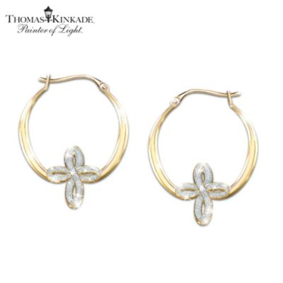 Thomas Kinkade Always & Forever In Christ Earrings
