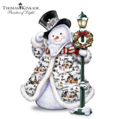 Thomas Kinkade Midwinter Magic Sculpture