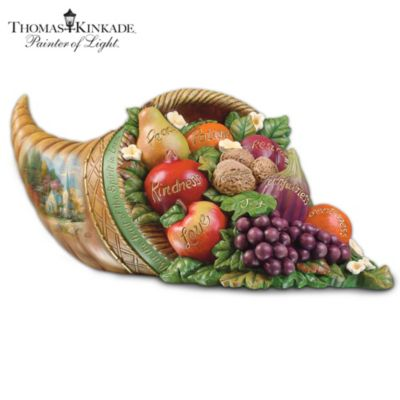 Thomas Kinkade's Fruit Of The Spirit Tabletop Centerpiece