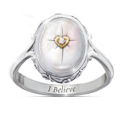 I Believe Diamond And Mother-Of-Pearl Ring