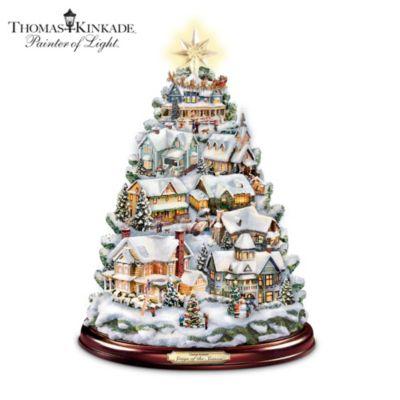 Thomas Kinkade Songs Of The Season Tabletop Tree