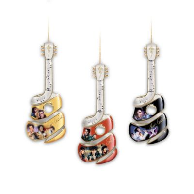 Elvis Swirl Ornament Set