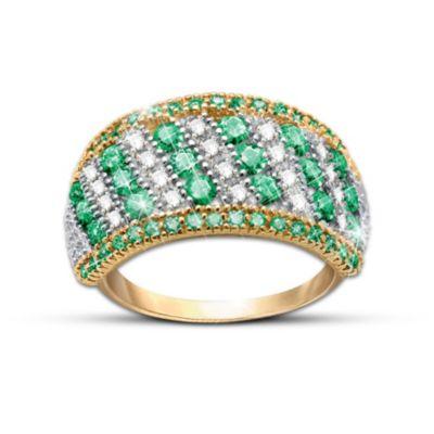 Rare Beauty Emerald And Diamond Ring