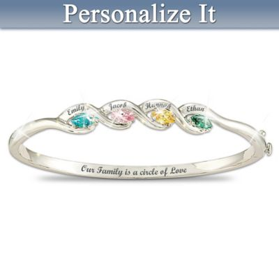 Our Family Is A Circle of Love Personalized Bracelet