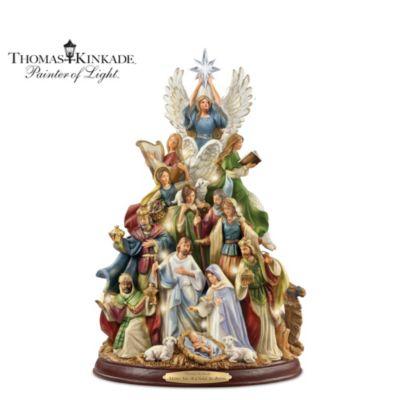 Thomas Kinkade O Holy Night Tabletop Tree