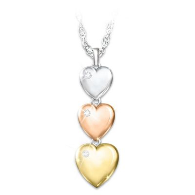 My Love For You Grows Stronger Diamond Pendant Necklace