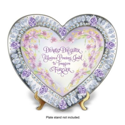 Daughter, You're My Heart's Treasure Collector Plate