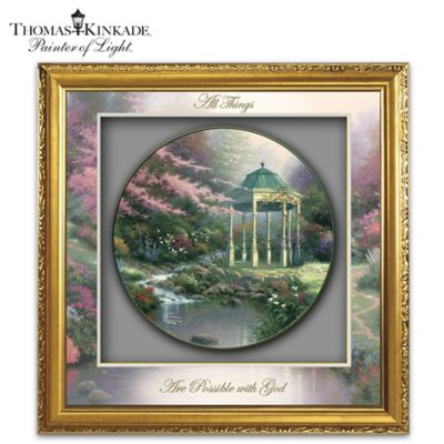 Thomas Kinkade Visions Of Hope Shadowbox Plate