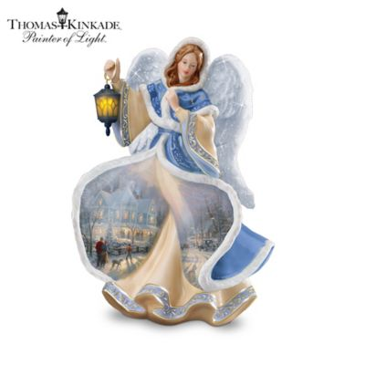 Thomas Kinkade Winter Angel Of Light Figurine