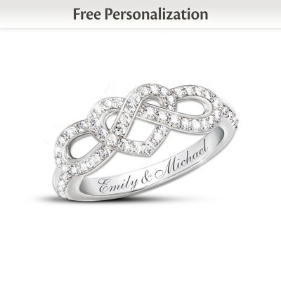 Joined In Love Personalized Diamond Ring