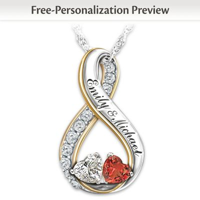 Two Hearts Become Soul Mates Personalized Pendant Necklace