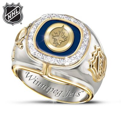 Winnipeg Jets™ Diamond Men's Ring