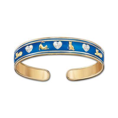 Cats Fill A Heart With Love Enamel Bracelet
