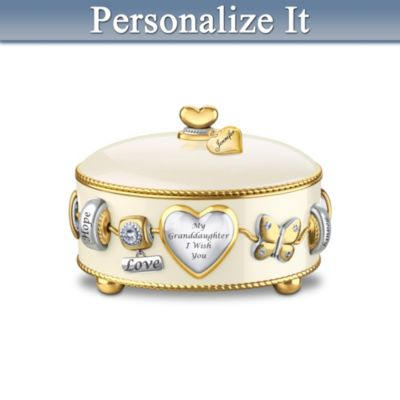 Granddaughter, I Wish You Personalized Music Box