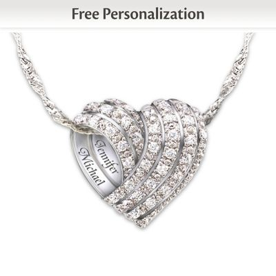 All My Love Personalized Diamond Pendant Necklace
