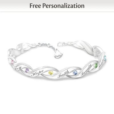 Wishes For My Granddaughter Personalized Bracelet