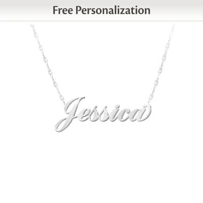 Daughter, I Love You Personalized Diamond Necklace