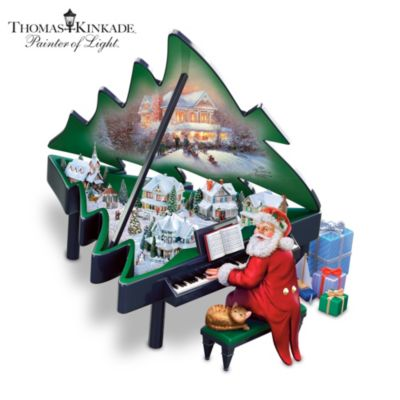 Thomas Kinkade Santa's Grand Christmas Musical Sculpture