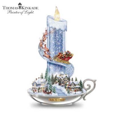 Thomas Kinkade Warm Glow Of Christmas Table Centerpiece