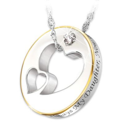 Diamond pendant necklace always my daughter now too my friend aloadofball Gallery