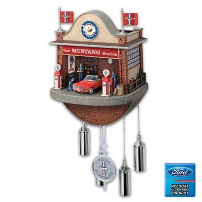Ford Mustang Garage Cuckoo Clock