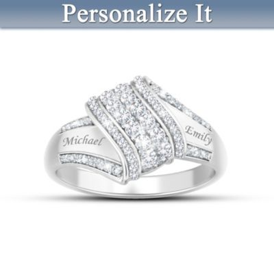 Reflections Of Love Personalized Diamond Ring