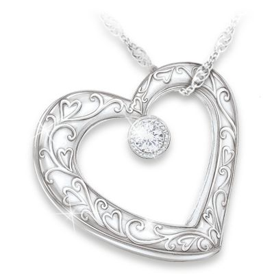 Celebration Of Motherhood Diamond Pendant Necklace