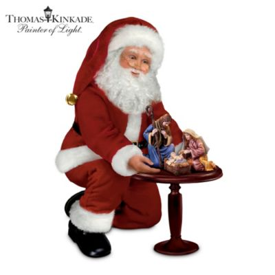 Thomas Kinkade The Reason For The Season Santa Doll