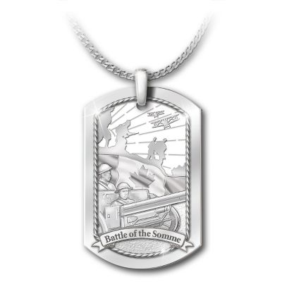 The Battle Of The Somme Pendant Necklace