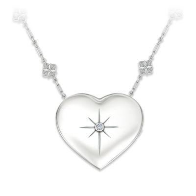 Grandma's Message Of Faith Diamond Pendant Necklace
