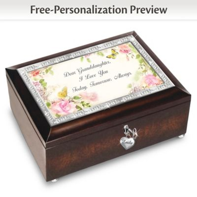 Granddaughter, I Love You Always Personalized Music Box