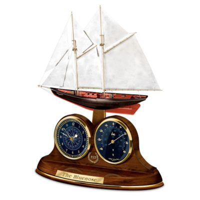 The Bluenose Clock And Thermometer